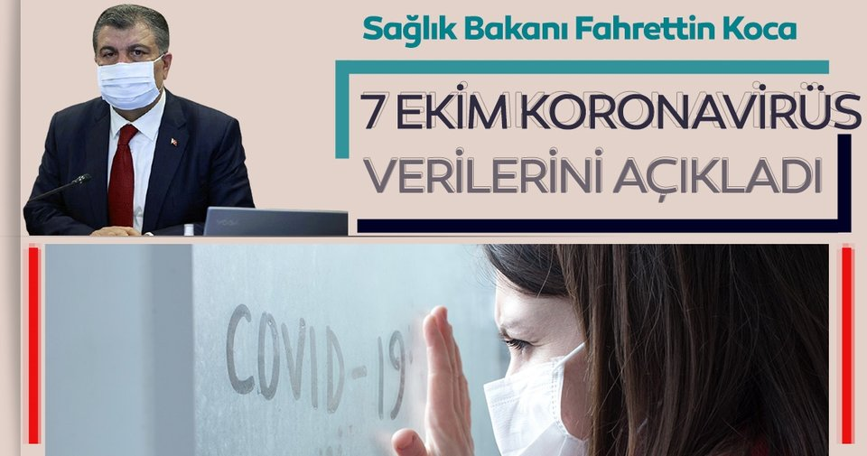 Son dakika haberi: Bakan Fahrettin Koca 7 Ekim koronavirüs hasta ve vefat sayılarını açıkladı! İşte, Türkiye'de corona virüs son durum tablosu