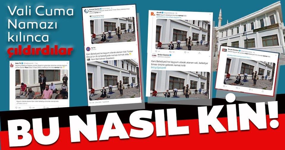 CHP, İYİ Parti, Deva Partisi, Cumhuriyet Gazetesi, Oda TV, Halk TV; Kars Belediye Başkan Vekili Türker Öksüz'ün Cuma namazını vatandaşlarla kılmasından rahatsız oldu!